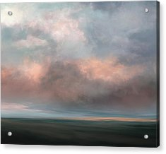 Salmon Sky Acrylic Print