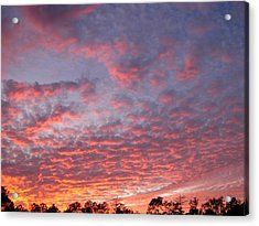 Acrylic Print featuring the photograph Salmon Sunset by Jeanne Kay Juhos