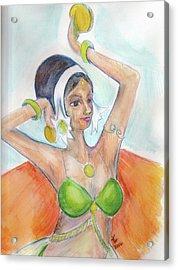 Salome Acrylic Print by Loretta Nash
