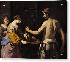 Salome Receiving The Head Of St John The Baptist Acrylic Print