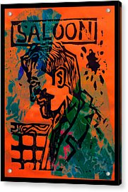 Saloon Acrylic Print by Adam Kissel