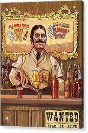 Saloon Keeper Acrylic Print by Valer Ian