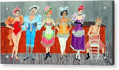 Saloon Sextet -- Portrait 1890's Women In Old West Acrylic Print