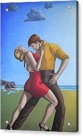 Salsa Dancing Portrait Painting Art   Acrylic Print by Luigi Carlo