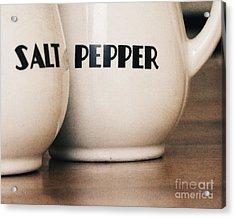Salt And Pepper Acrylic Print by Alison Sherrow