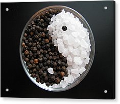 Salt And Pepper Yin And Yang Acrylic Print