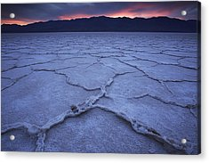 Salt Flats At Badwater Basin Acrylic Print by Michael Melford
