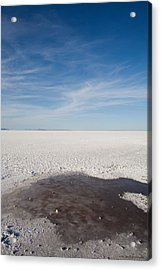 Salt Flats Acrylic Print by Luigi Barbano BARBANO LLC