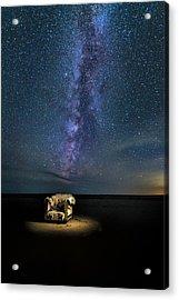 Salt Flats Milky Way Chair Acrylic Print