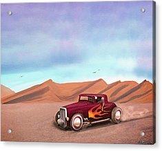 Salt Flats Racer Acrylic Print
