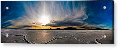 Salt Flats Sunset Acrylic Print