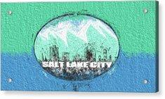 Salt Lake City Flag Acrylic Print by JC Findley
