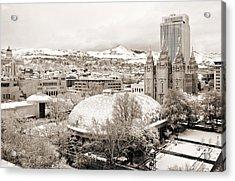 Salt Lake City Landmarks Acrylic Print by Marilyn Hunt