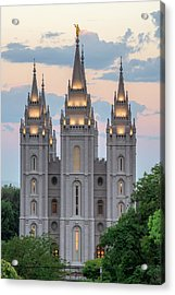 Salt Lake City Temple Morning Acrylic Print by Dustin  LeFevre