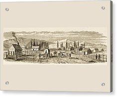 Salt Lake City Utah In 1850. From Acrylic Print