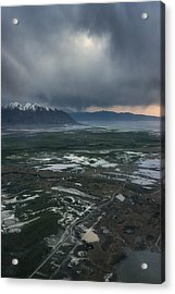 Acrylic Print featuring the photograph Salt Lake Drama by Ryan Manuel