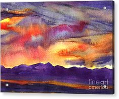 Salt Lake Rise Acrylic Print by Pat Crowther