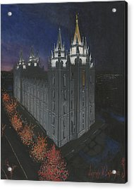 Salt Lake Temple Christmas Acrylic Print