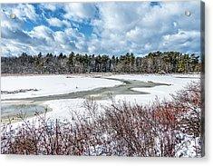 Salt Marsh Meander Acrylic Print