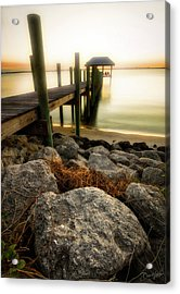 Acrylic Print featuring the photograph Salt Mist On River by David A Lane
