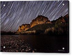 Salt River Star Trails Acrylic Print by Bill Cantey