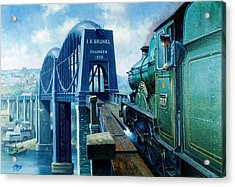 Saltash Bridge. Acrylic Print by Mike  Jeffries