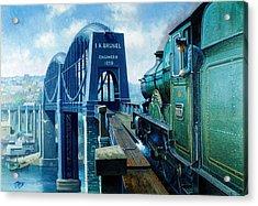 Saltash Bridge. Acrylic Print by Mike  Jeffries