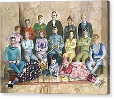 Acrylic Print featuring the painting Saltimbanques by Douglas Teller