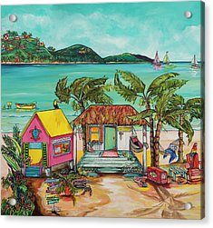 Acrylic Print featuring the painting Salty Kisses Smaller Version by Patti Schermerhorn