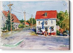 Salty Market, North Truro Acrylic Print by Peter Salwen