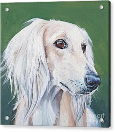 Acrylic Print featuring the painting Saluki Sighthound by Lee Ann Shepard