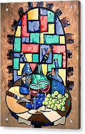 Salute Happy Hour In Tuscany Acrylic Print by Anthony Falbo