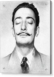 Salvador Dali, Infamous Artist Acrylic Print by John Springfield