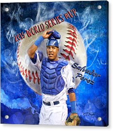 Salvador Perez 2015 World Series Mvp Acrylic Print