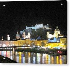 Salzburg At Night Acrylic Print