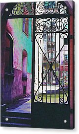 Acrylic Print featuring the photograph Salzburg Gate by Kate Word