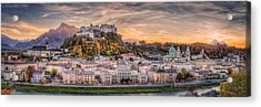 Salzburg In Fall Colors Acrylic Print by Stefan Mitterwallner