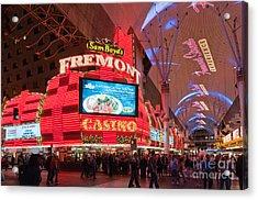 Sam Boyds Fremont Casino Acrylic Print by Andy Smy