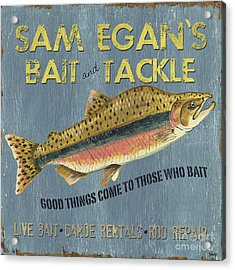 Sam Egan's Bait And Tackle Acrylic Print by Debbie DeWitt