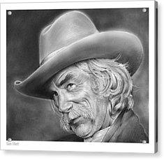 Sam Elliott Acrylic Print by Greg Joens