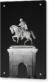 Sam Houston - Black And White Acrylic Print