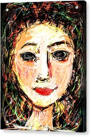 Samantha Acrylic Print by Elaine Lanoue