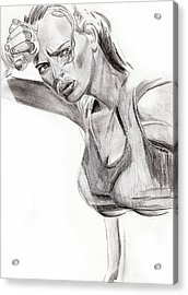 Acrylic Print featuring the drawing Samantha by Michael McKenzie