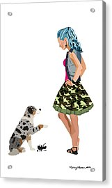 Acrylic Print featuring the digital art Samantha by Nancy Levan