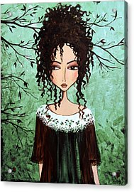 Samantha's Chocolate Tree Acrylic Print by Debbie Horton