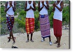 Samburu Tribesmen Clapping Acrylic Print