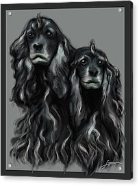 Acrylic Print featuring the digital art Sammy And Cloe by Thomas Lupari