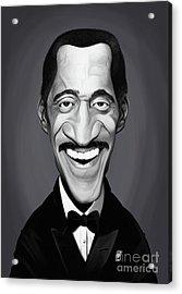 Acrylic Print featuring the digital art Celebrity Sunday - Sammy Davis Jnr by Rob Snow
