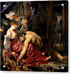 Samson And Delilah Acrylic Print by Peter Paul Rubens