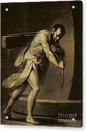 Samson In The Treadmill Acrylic Print by Giacomo Zampa